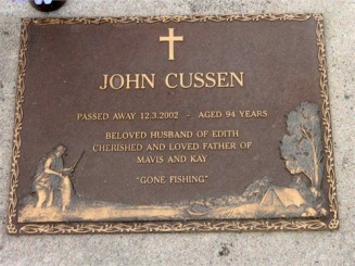 JOHN CUSSEN HEADSTONE - Carter-Butler Web Site
