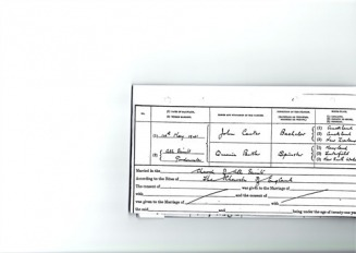 JOHN CARTER & QUEENIE BUTLER MARRIAGE CERTIFICATE - Carter-Butler Web Site