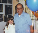Clarinda, with Great Grandpa Ivo - <Private> Lazzeroni - Heywood Web Site