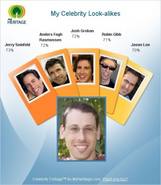 My Celebrity Look-alikes - male Web Site