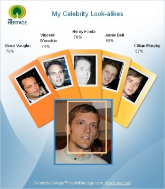 My Celebrity Look-alikes - MyHeritage-Photos