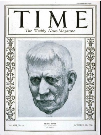 Elihu Root 1926 Cover of Time Magazine - Dornburg Family Branches Web Site