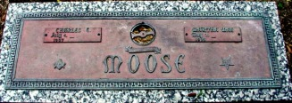 Moose, Charles Guthrie & Martha Mae headstone 1997 - Moose-Hawkins Web Site