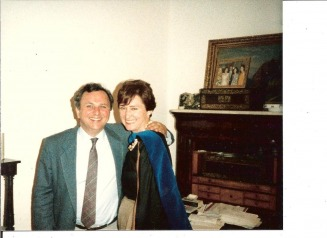 Barbara with Jean Claude Leon in Mexico PhD celebration - Bowie-Whitman Web Site