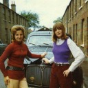 Mum and Dawn~Wingfield Place~Mum and DAwn outside 10 Wingfield Place, Sidcup infront of Rover 80 - Hawkins Web Site