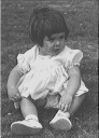 Sally as baby in Nana List's garden - <Private> Hawkins - Hawkins Web Site