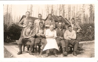EE (Mike) Gregg right end survey crew ~ 1925 - Gregg Web Site