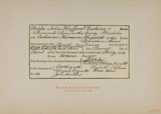 Dickens marriage certificate - Charles Dickens Family Web Site