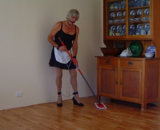 Sweeping Dusting Polishing, is there no rest for the Sissy Maid ...