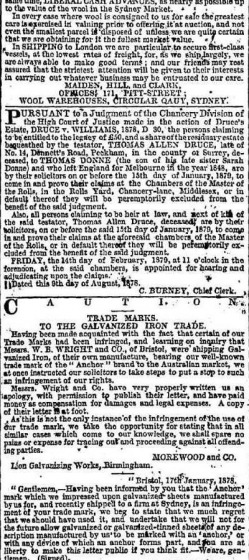 The Sydney Morning Herald Tuesday 1 October 1878 - Warren Web Site