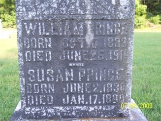 William and Susan Matheny Prince Headstone - Williams Web Site