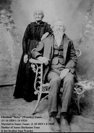 James Tomes and Betsy Woosley - Harralson & Sunn family Web Site