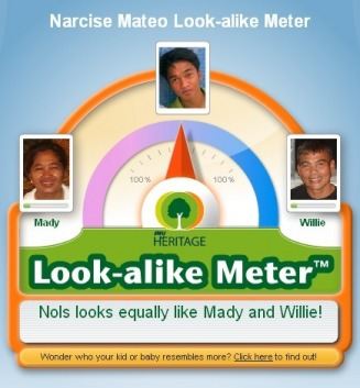 Narcise Mateo Look-alike Meter - Mateo Web Site