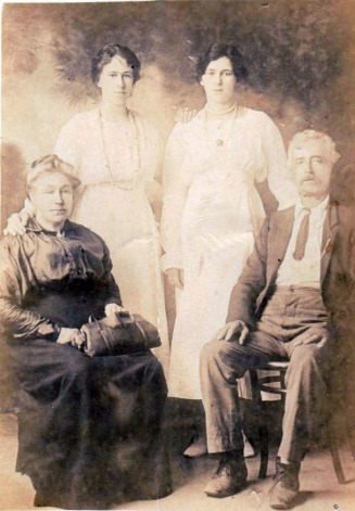 Maria & Edward Talbot & Daughters, Maud & Pansie - Mead Fraser Family Tree Web Site