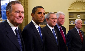 With Clinton, Reagan and the Bushes - MyHeritage Celebrities - Barack Obama