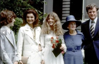 JFK jr. Jackie and Caroline at Caroline's High School Graduation - MyHeritage Celebrities - John F. Kennedy