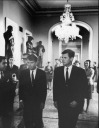 Robert and Ted - Edward Teddy Ted Moore Kennedy Sr. - MyHeritage Celebrities - John F. Kennedy