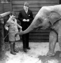 Ted & Robert , London Zoo - Edward Moore (Ted) Kennedy - MyHeritage Celebrities - John F. Kennedy