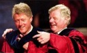 Ted inducting President Bill Clinton for an award from South Eastern University - Edward Moore (Ted) Kennedy - MyHeritage Celebrities - John F. Kennedy