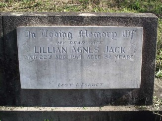 Lillian Agnes Jack (born Daniel) - Parry Web Site