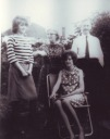 Aunt Lyle with her husband and Cousins Lesley standing and cousin Jane - Heywood Web Site