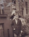 Colette, cat and I on Stanlake Rd - <Private> Heywood - Heywood Web Site