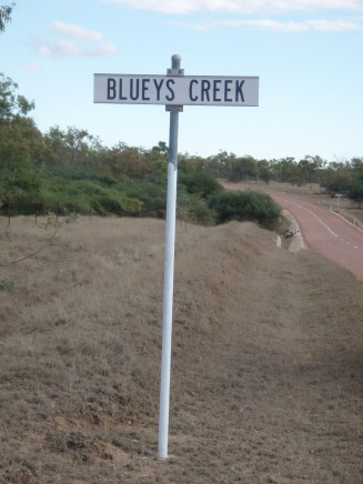 Blueys Creek Sign 18 Jul 2011 - wassman Web Site