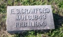 CrawfordEdwinSwinkGravestone - Edwin Swink Crawford - Sleep Web Site