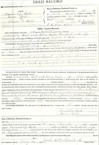 Deed Record - Hammett Web Site