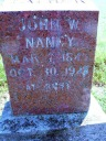 John William Naney Head Stone - Walker Family Tree Web Site