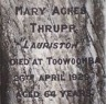 Mary Agnes Thrupp (born Lloyd)