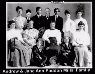 Andrew Mills and Jane An Paddon Family - Burrell / Evans Family website