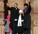 The Obamas in the cold - MyHeritage Celebrities - Barack Obama