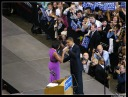 With Michelle on stage - MyHeritage Celebrities - Barack Obama