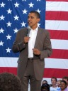 Obama and the flag - MyHeritage Celebrities - Barack Obama
