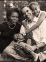 Squidoo-Xmas-Card-Portrait - Natasha (Sasha) Obama - MyHeritage Celebrities - Barack Obama
