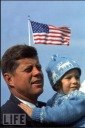 JFK with daughter Caroline - MyHeritage Celebrities