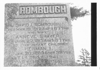 Rombough Headstones_0003 - Rombough-Rambach-Rumbaugh Family Web Site