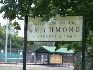 Town Sign of Richmond - Griffiths Web Site