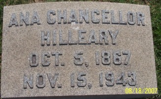 Anna Hilleary Chancelllor - MyPageFamily Web Site